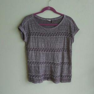 Anthropologie Akemi & Kin crochet shirt